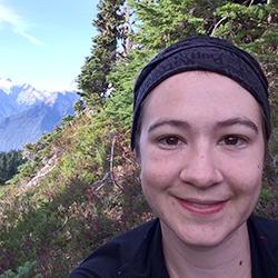 Myrna Keliher in the field